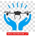 Drone Launch Hands Eps Icon vector image vector image