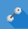 dumbbell icon flat design vector image vector image