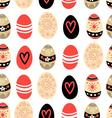 Easter seamless graphic pattern of different eggs vector image vector image