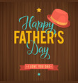 father s day greeting card retro style vector image vector image