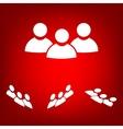 Flat icon of team work set Isometric effect vector image