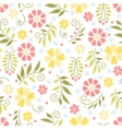 Flower embroidery seamless pattern vector image vector image