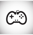 game console controller on white background for vector image