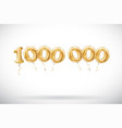 golden number 1000000 one million metallic vector image