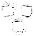 grunge frames vector image vector image