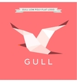 Gull low poly polygon logo geometry vector image vector image