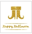 Halloween gold textured boots icon vector image vector image