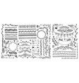 hand drawing doodle page decoration set of vector image vector image