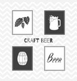 hand drawn silhouettes brewery posters vector image