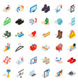 hanger icons set isometric style vector image vector image