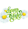 happy easter colorful paint lettering greeting vector image