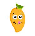 happy peach emoticon vector image vector image