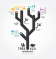 infographics tree design diagram line style templa vector image vector image