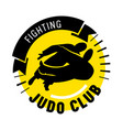 judo fighting club banner martial arts school vector image