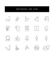 line icons set bathroom pack vector image