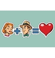 Man plus woman equal love vector image vector image