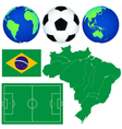 Map and soccer icons vector image
