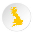 map of great britain icon circle vector image vector image