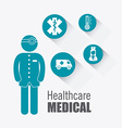 Medical healthcare design vector image vector image