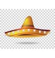 Mexican Sombrero Hat headwear Mexico vector image vector image