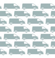 minivan delivery seamless pattern background vector image vector image
