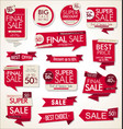 modern sale banners and labels collection 3 vector image vector image