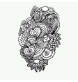 Monochrome Zentangle Doodle with hearts vector image vector image