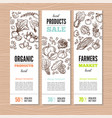 organic market kit banners vector image