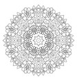 oriental coloring pattern traditional round vector image vector image