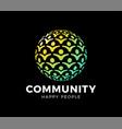 people globe icon logo design element vector image vector image