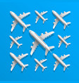 plane in blue background vector image