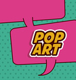 Pop art design vector image vector image