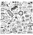 Programming computers - doodles vector image vector image