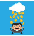Raining Gold Coins vector image vector image