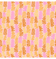 Seamless floral pattern in warm colors vector image vector image