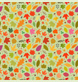 seamless pattern colorful autumn leaves vector image vector image