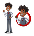 set of businessman in vest inside the circle logo vector image vector image