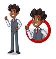 set of businessman in vest inside the circle logo vector image vector image