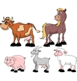 Set of domestic animals vector image vector image