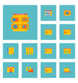set wd icons flat style symbols with homepage vector image vector image