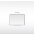 Silver metal briefcase vector image