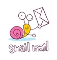 snail mail cartoon character vector image vector image