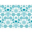 sugar skull seamless pattern - mexican folk vector image vector image