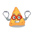 super hero nachos character cartoon style vector image