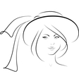 The woman in a hat vector image