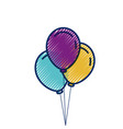 three balloons inflatable party decoration vector image vector image