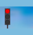 traffic lights with red light on vector image vector image