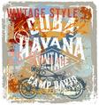 Vintage motor cuba style vector image vector image