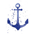 Watercolor of an anchor vector image vector image