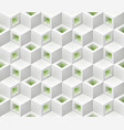 white green cubes isometric seamless pattern vector image vector image